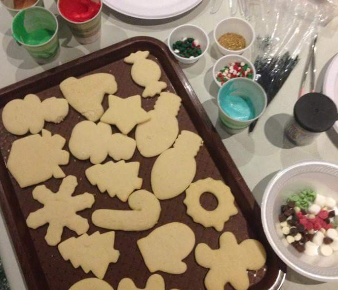 2016 Cookie Decorating Setup